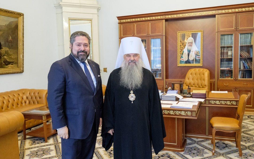 Наследник Цесаревич Великий Князь Георгий Михайлович встретился с Митрополитом Санкт-Петербургским и Ладожским Варсонофием